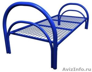 Двухъярусные железные кровати, для казарм, металлические кровати с ДСП спинками - Изображение #2, Объявление #1478860