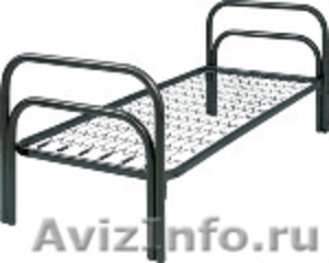 Двухъярусные железные кровати, для казарм, металлические кровати с ДСП спинками - Изображение #7, Объявление #1478860
