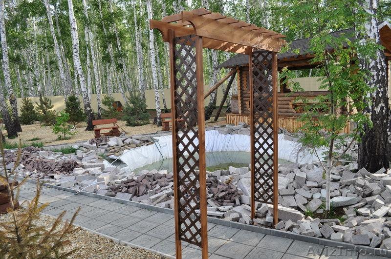 Изделия для сада из дерева 112