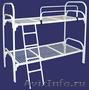 Двухъярусные железные кровати, для казарм, металлические кровати с ДСП спинками, Объявление #1478860