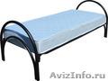 Двухъярусные железные кровати, для казарм, металлические кровати с ДСП спинками - Изображение #6, Объявление #1478860
