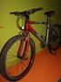 Велосипед горный красно-серый